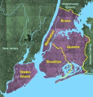 Usgs Photo New York Five Boroughs • Mapsof.net