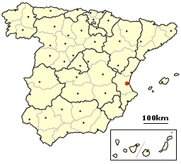 Valencia, Spain  Location large map