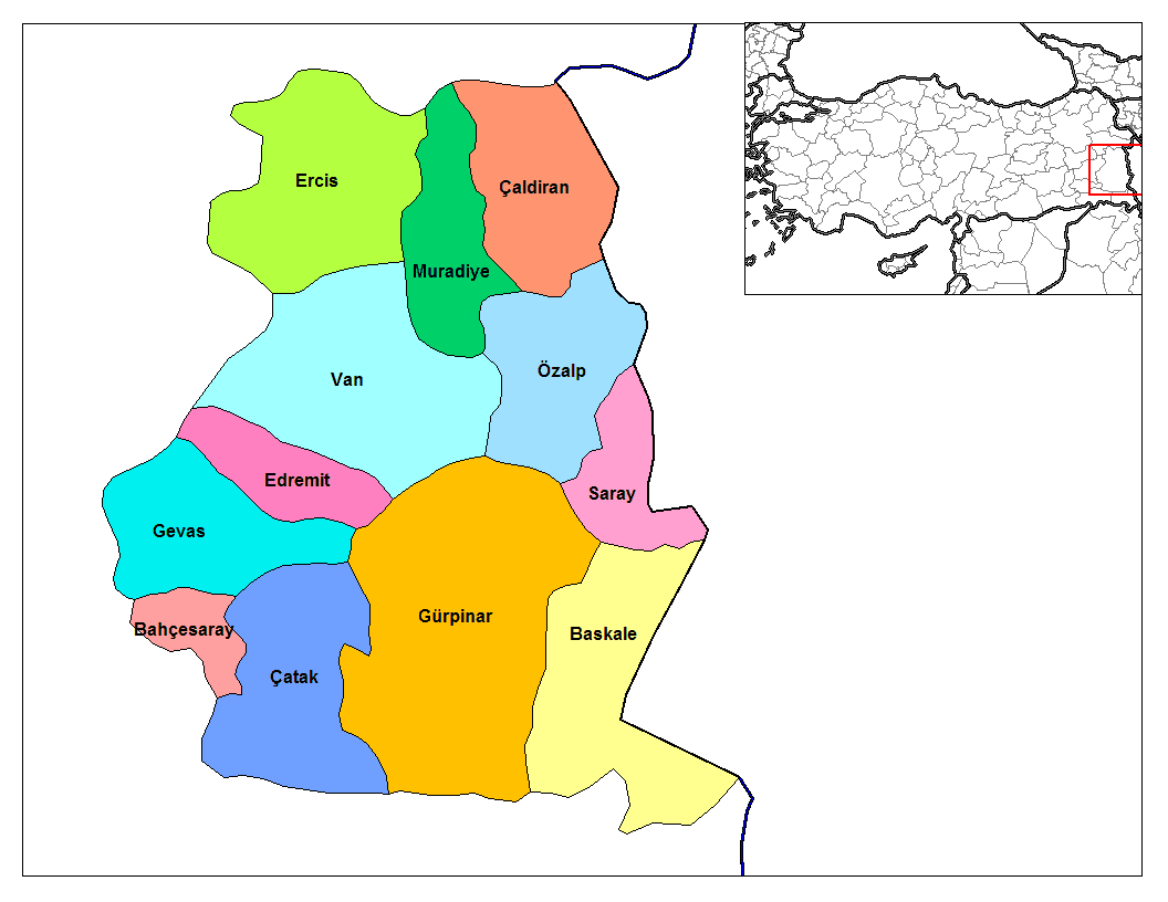 Van Districts large map