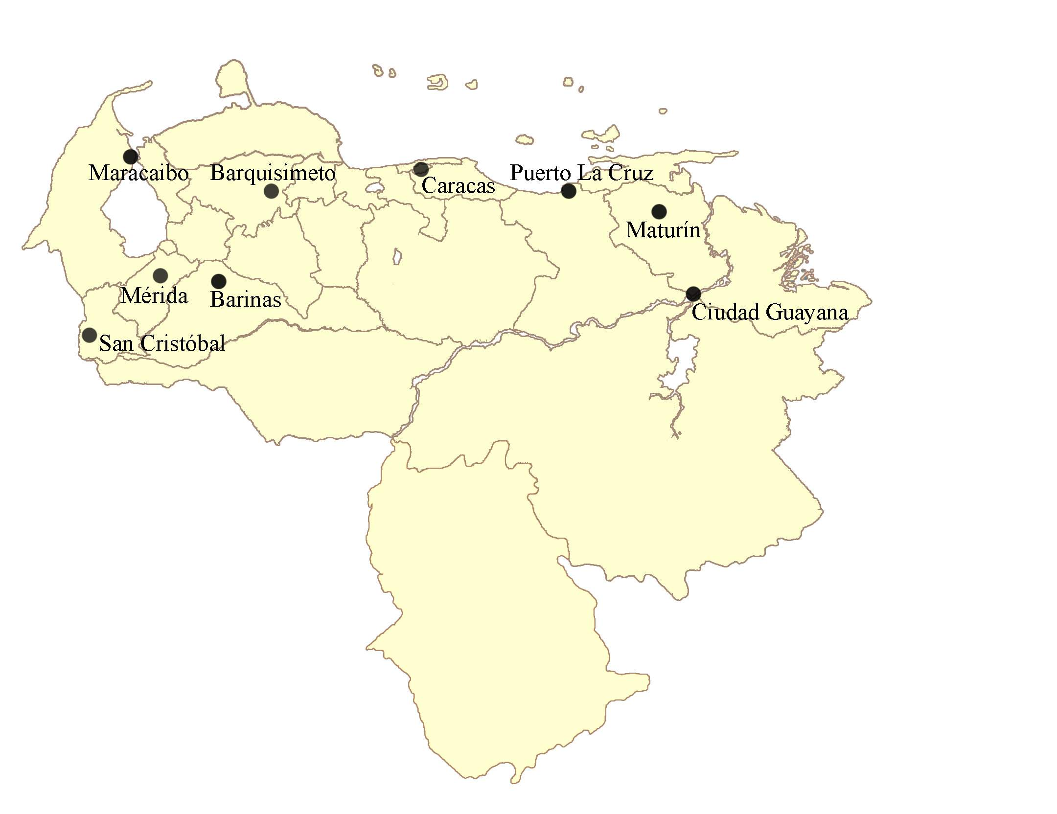 Venezuela Copaamerica large map