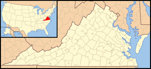 Virginia Locator Map With Us large map