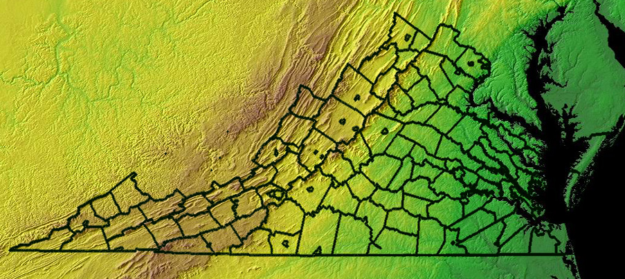 Virginia Topographic Edit