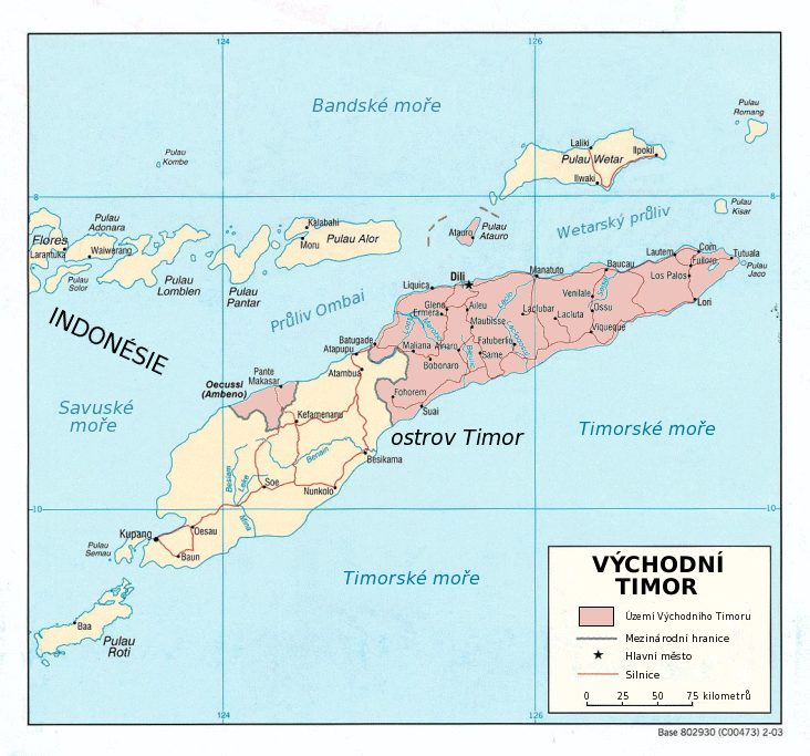 Vychodni Timor large map