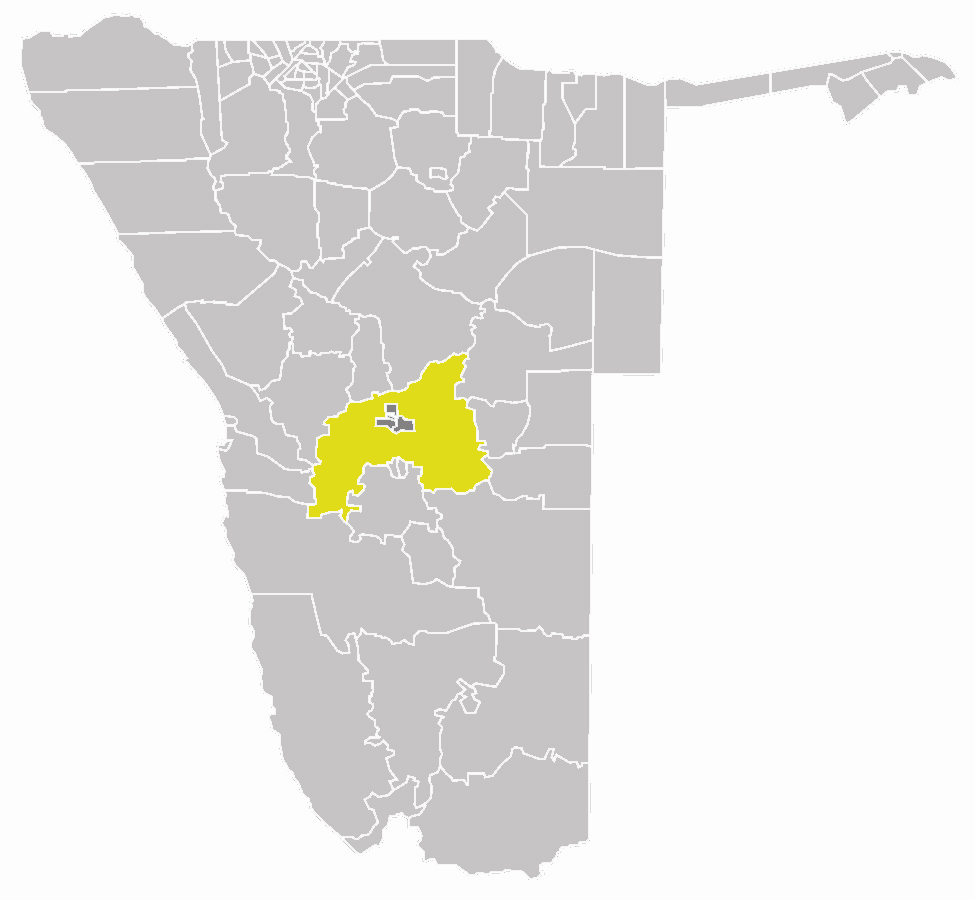 Wahlkreis Windhoek Land In Khomas large map