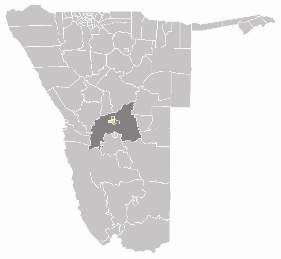 Wahlkreis Windhoek West In Khomas large map