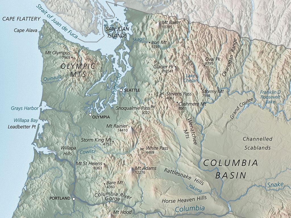 Washington Geography Map U2013 Bnhspine.com