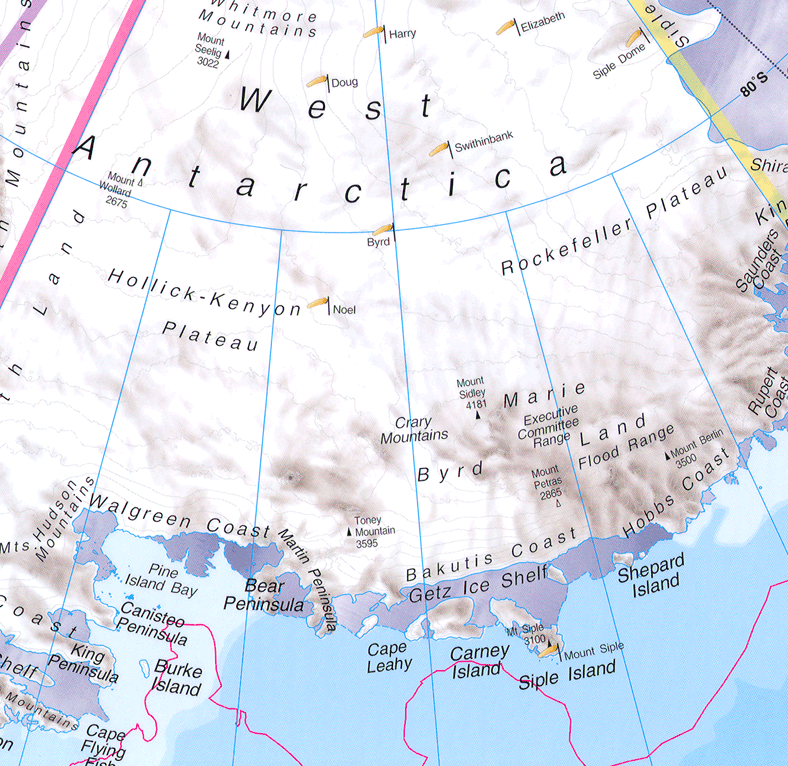 West Antarctica large map