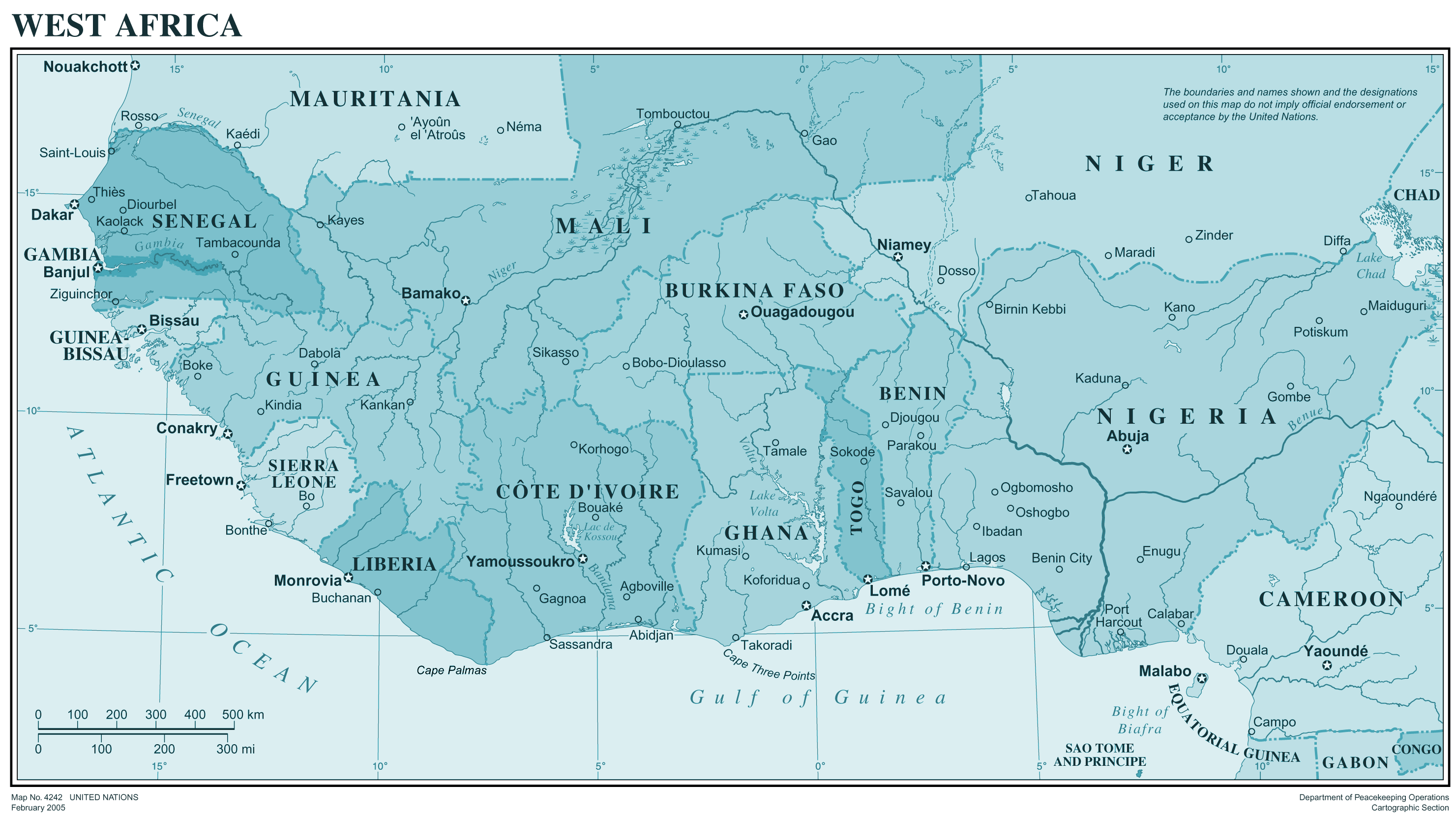 Westafrica large map