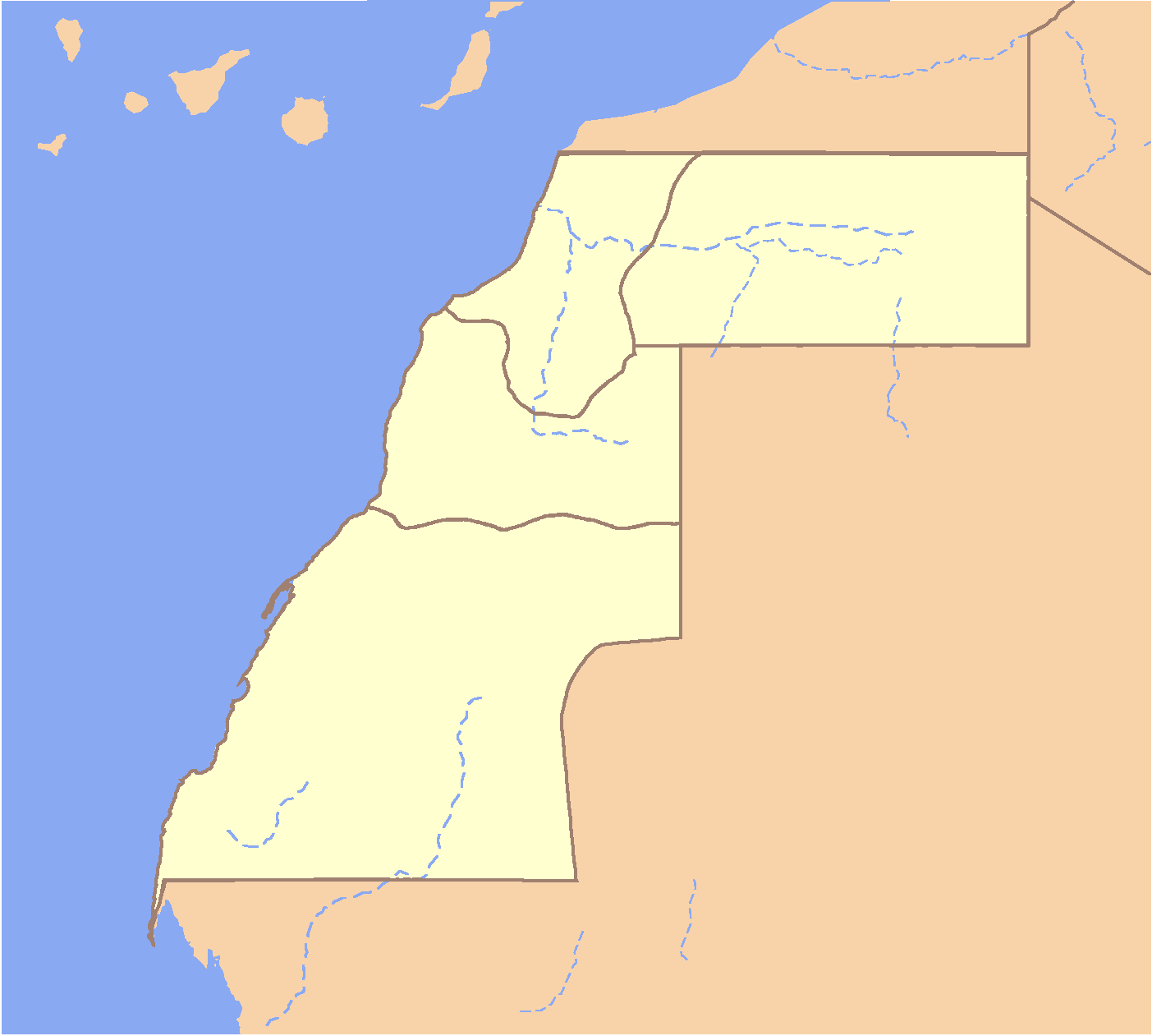 Western Sahara Locator large map