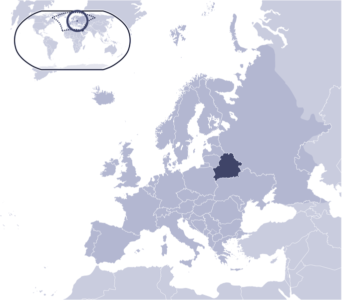 Where Is Belarus Located large map