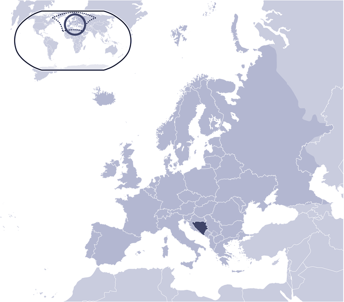 Where Is Bosnia And Herzegovina Located large map
