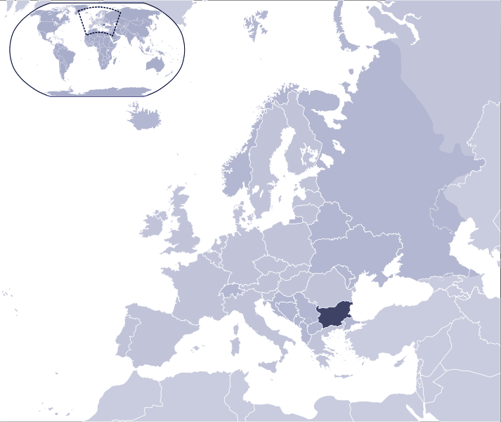 Where Is Bulgaria Located large map