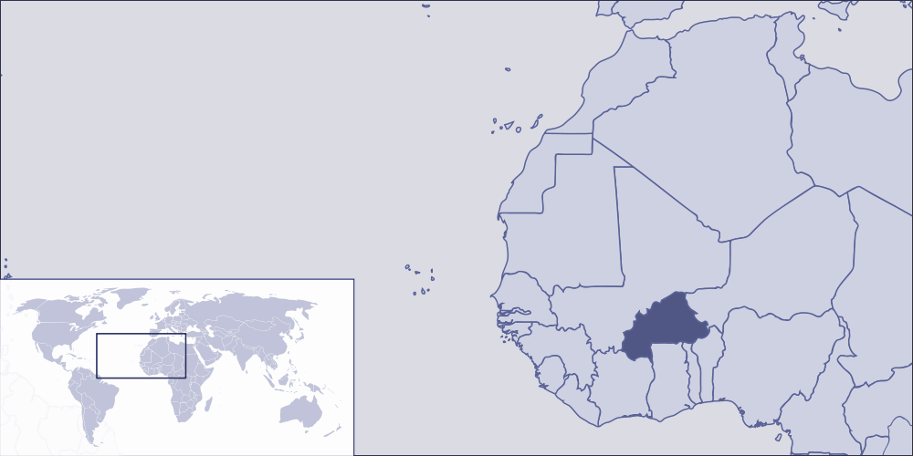 Where Is Burkina Faso Located large map