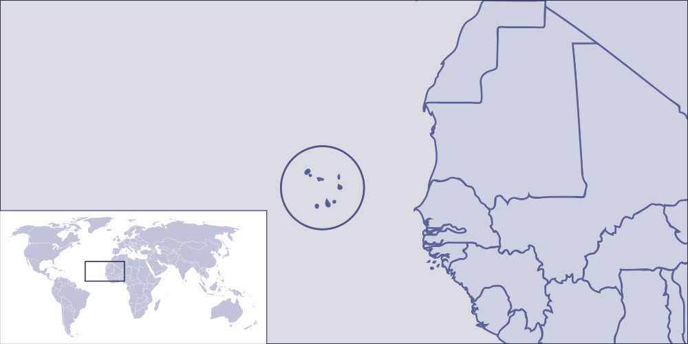 Where Is Cape Verde Located large map