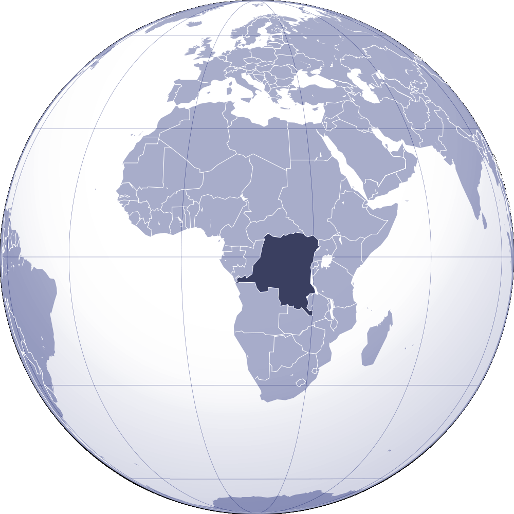 Where Is Democratic Republic of Congo Located large map