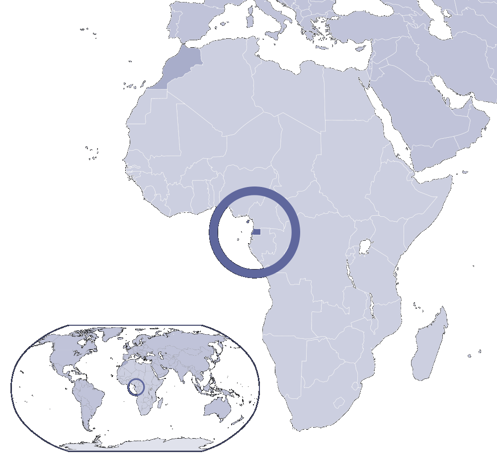 Where Is Equatorial Guinea Located large map