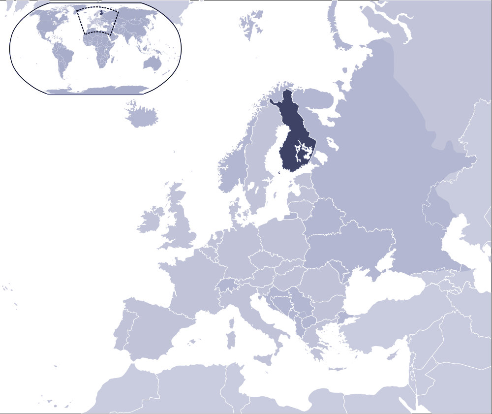 Where Is Finland Located large map
