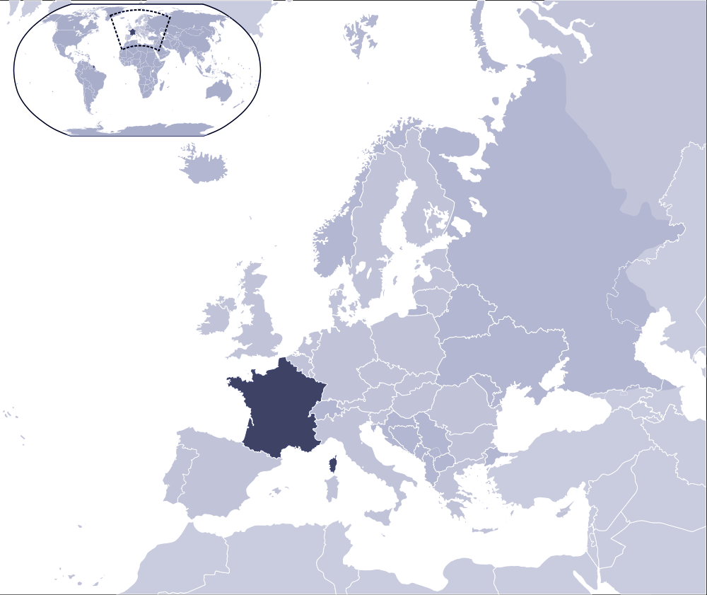 Where Is France Located large map
