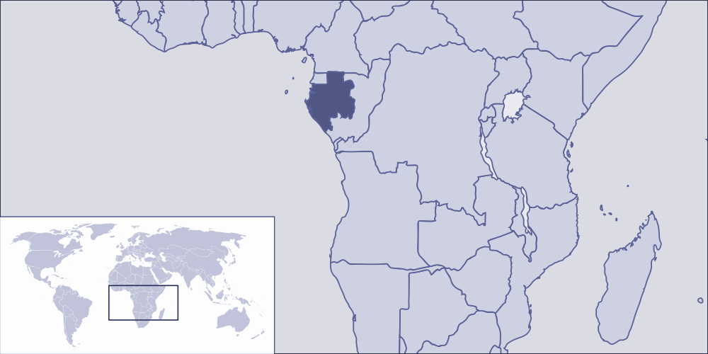 Where Is Gabon Located large map