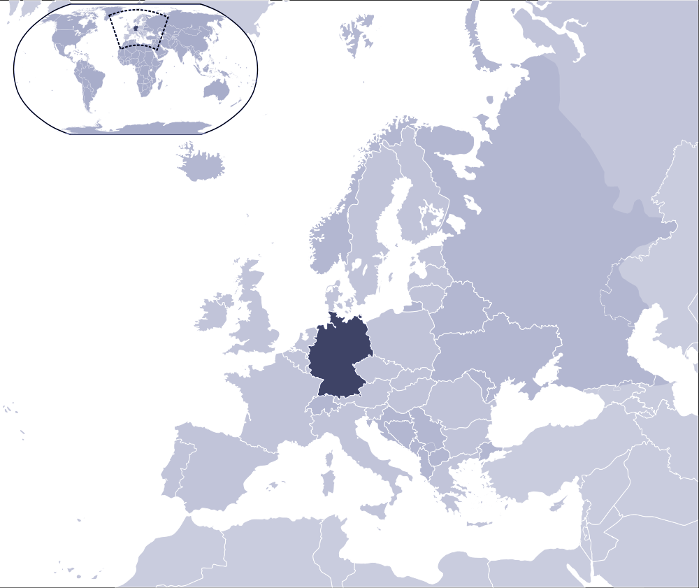 Where Is Germany Located large map
