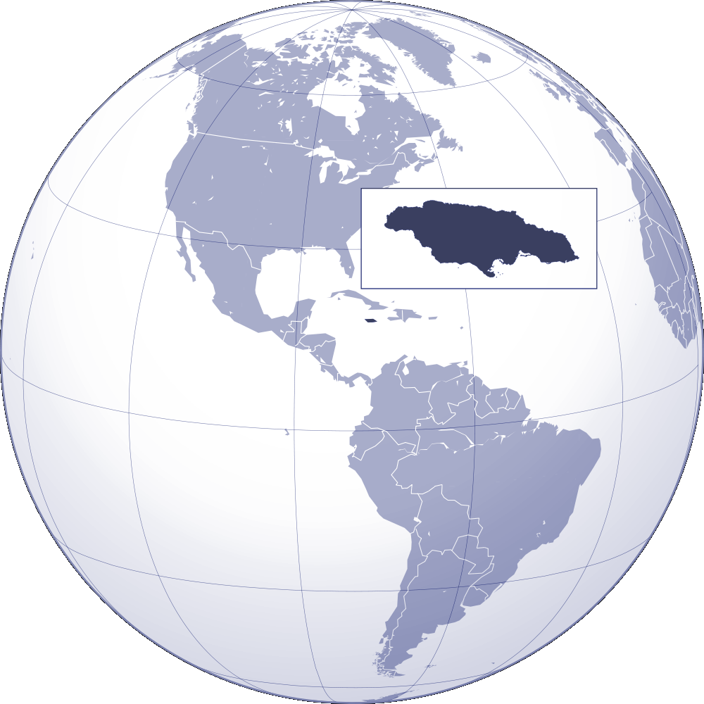 Where Is Jamaica Located large map