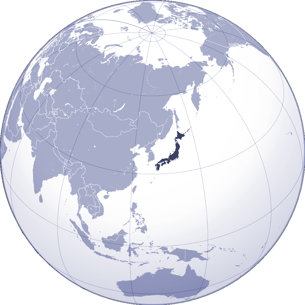 Where Is Japan Located large map