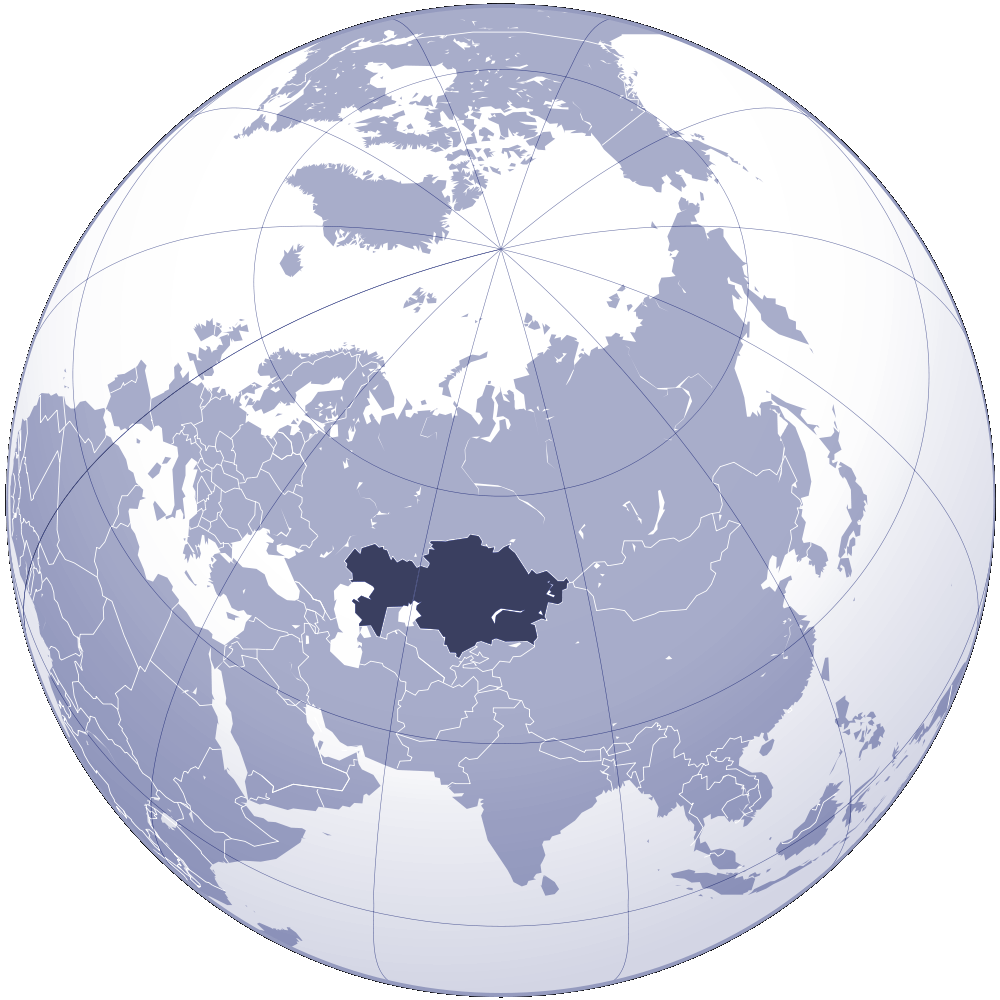 Where Is Kazakhstan Located large map