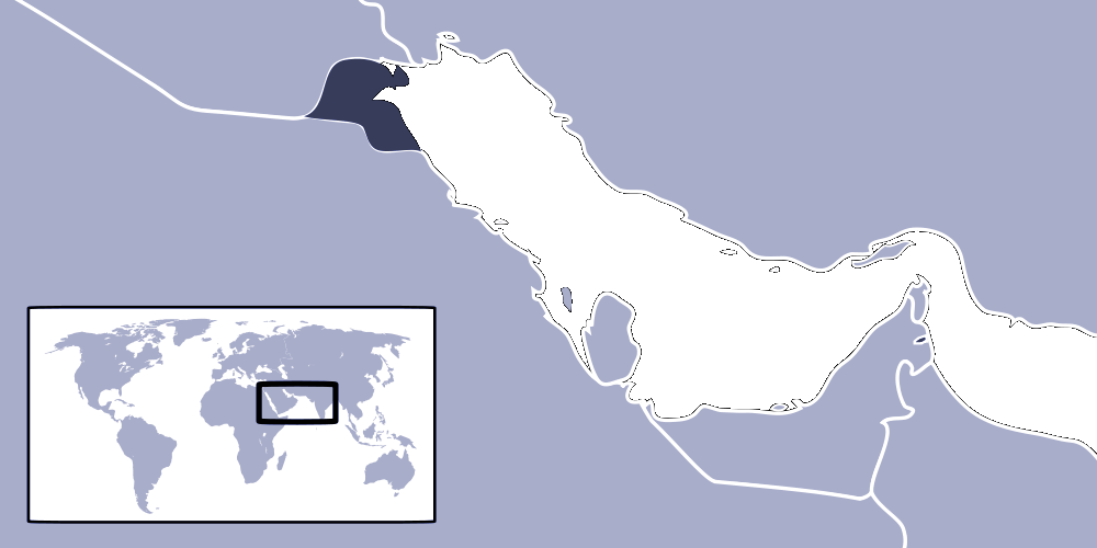 Where Is Kuwait Located large map