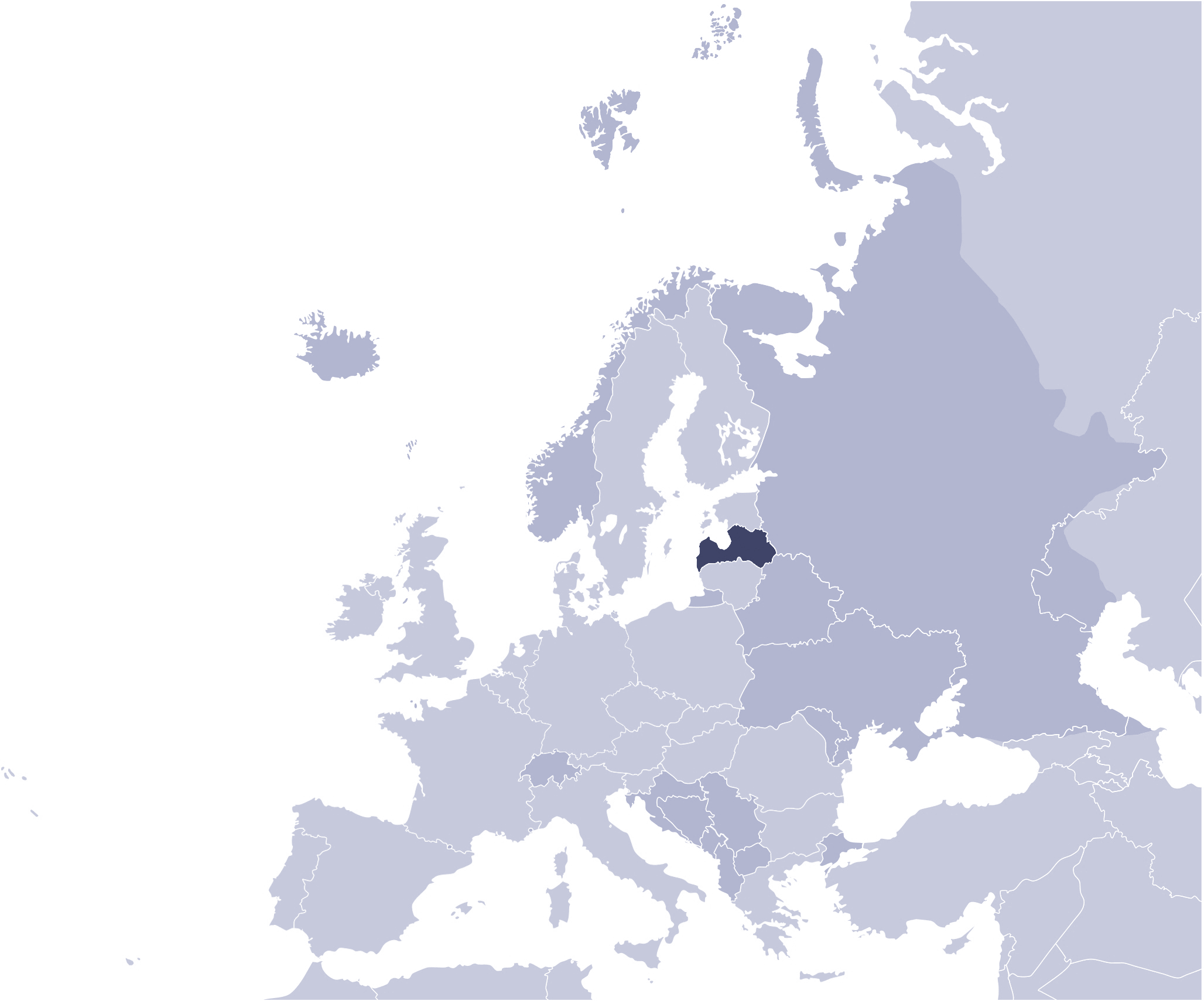 Where Is Latvia Located large map