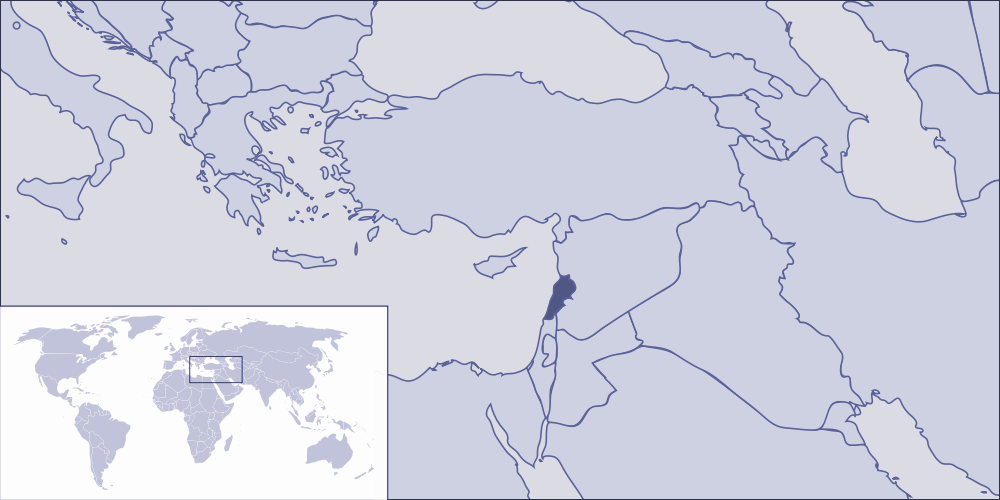 Where Is Lebanon Located large map