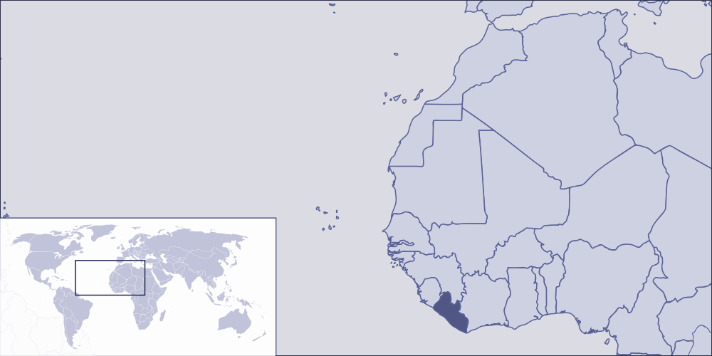 Where Is Liberia Located large map
