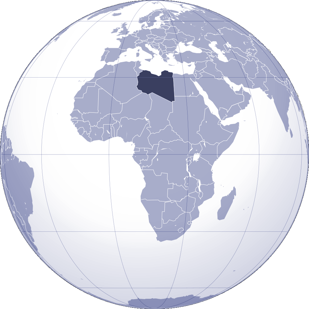 Where Is Libya Located large map