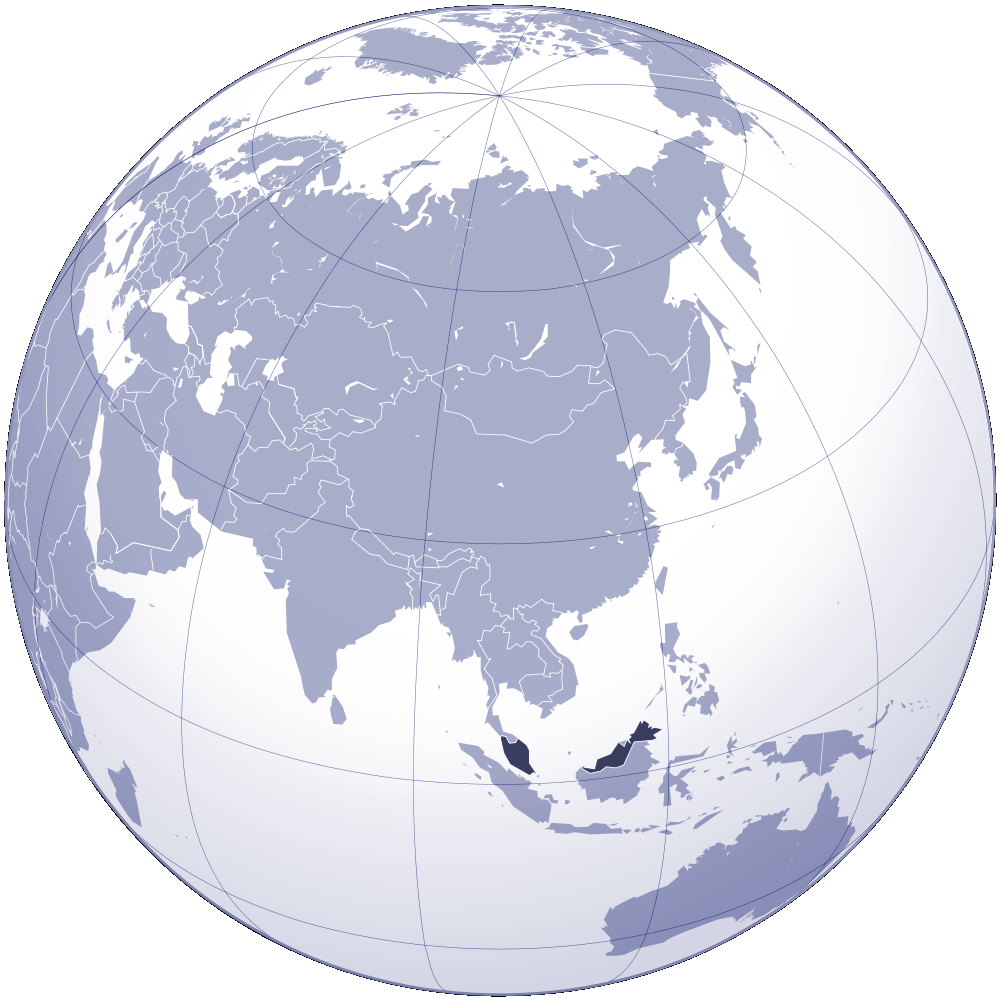 Where Is Malaysia Located large map
