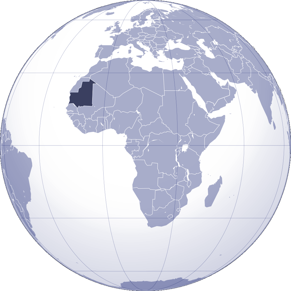 Where Is Mauritania Located large map