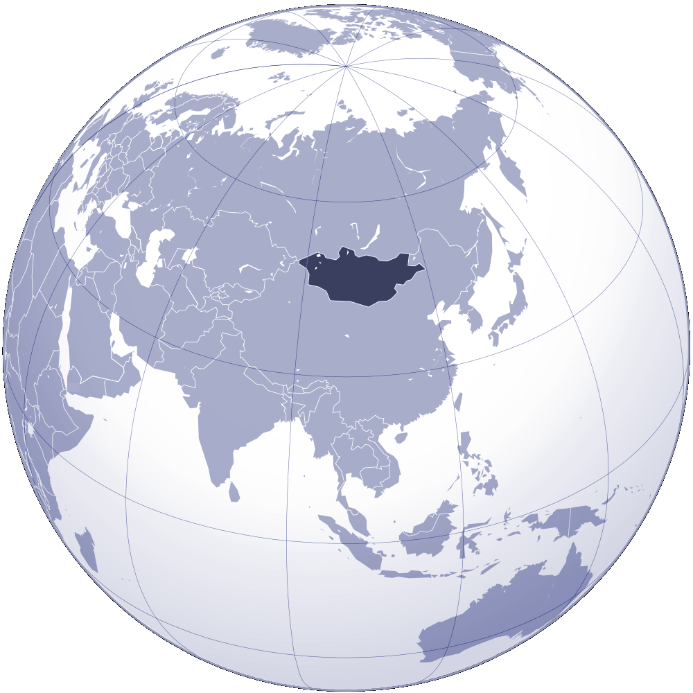 Where Is Mongolia Located large map