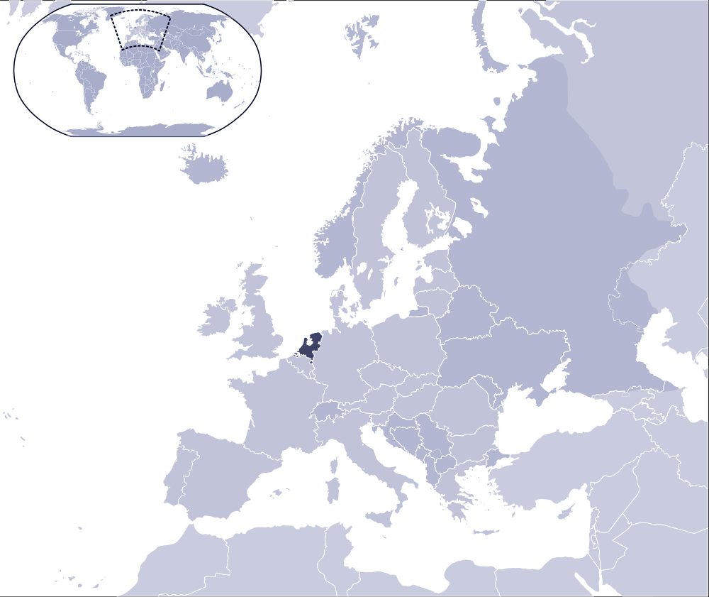 Where Is Netherlands Located large map