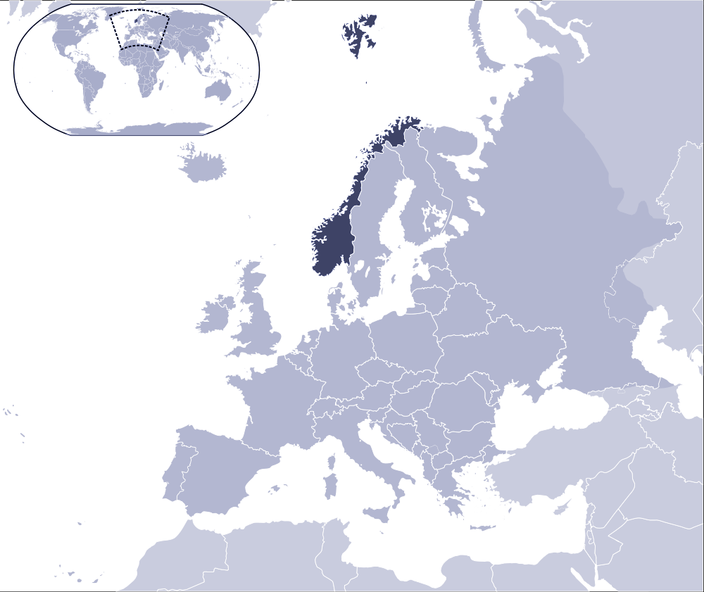 Where Is Norway Located Mapsofnet - Where is norway