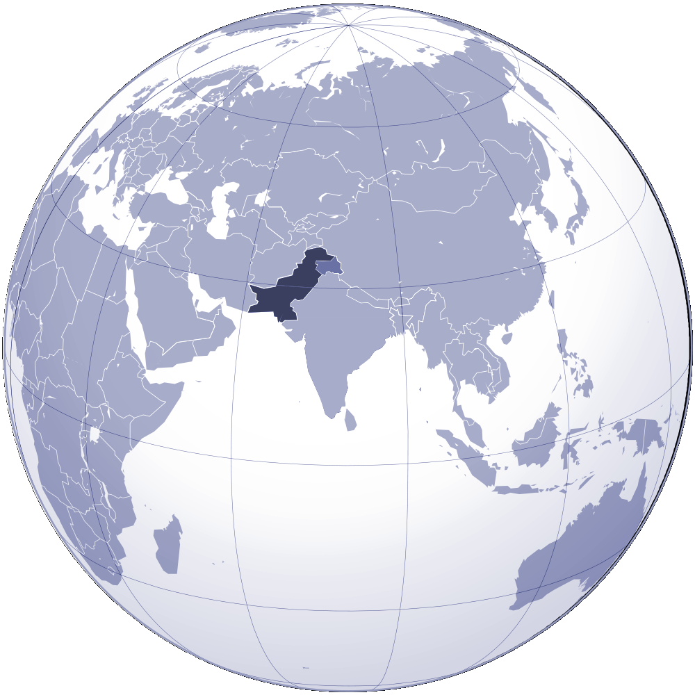 Where Is Pakistan Located large map