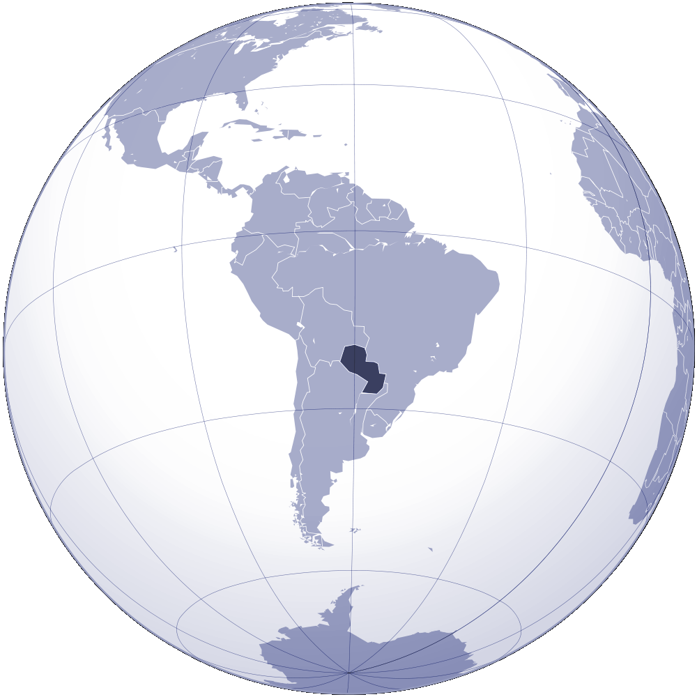Where Is Paraguay Located large map