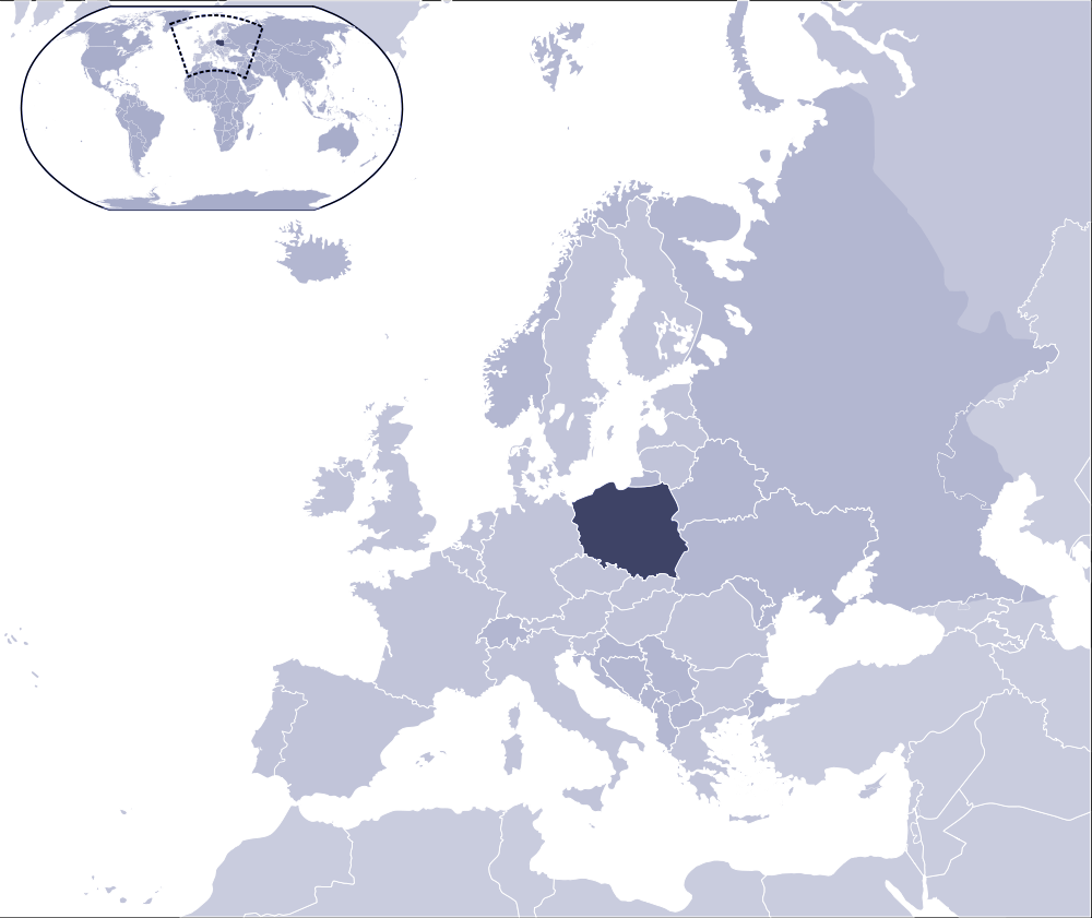 Where Is Poland Located large map