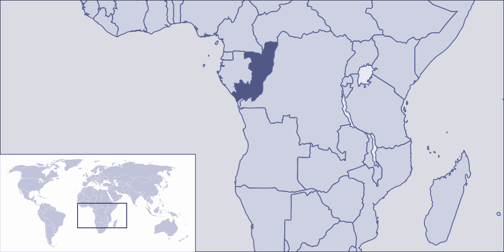 Where Is Republic of Congo Located large map
