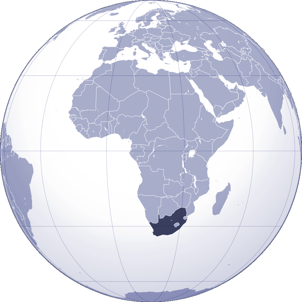 Where Is South Africa Located large map