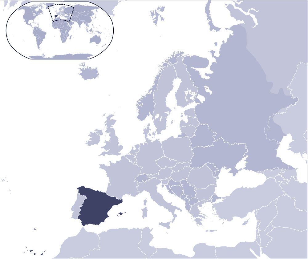 Where Is Spain Located Mapsofnet - Where is spain located