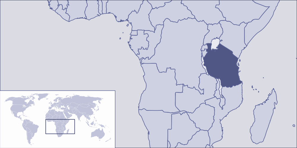 Where Is Tanzania Located large map