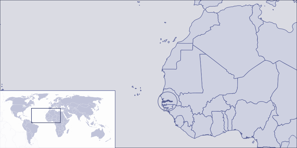Where Is the Gambia Located large map
