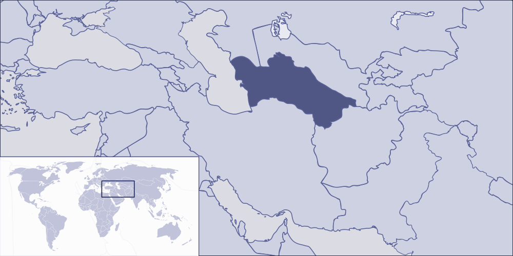 Turkmenistan Flag Map Mapsofnet
