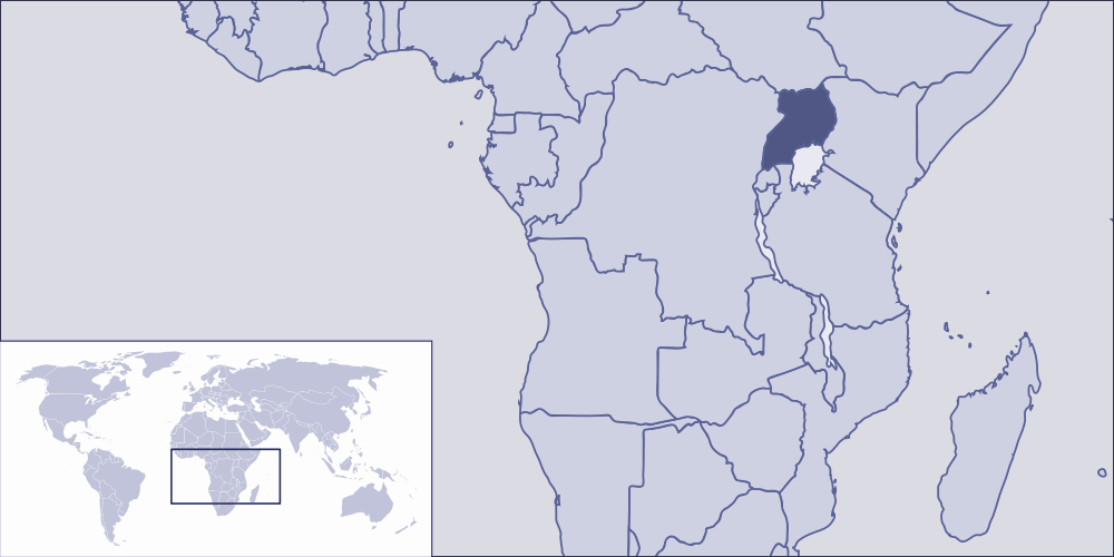 Where Is Uganda Located large map