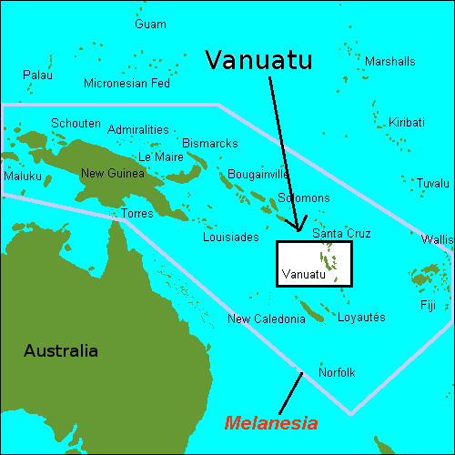 Where Is Vanuatu Located Mapsofnet - Vanuatu map