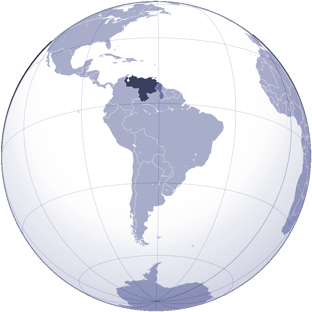 Where Is Venezuela Located large map