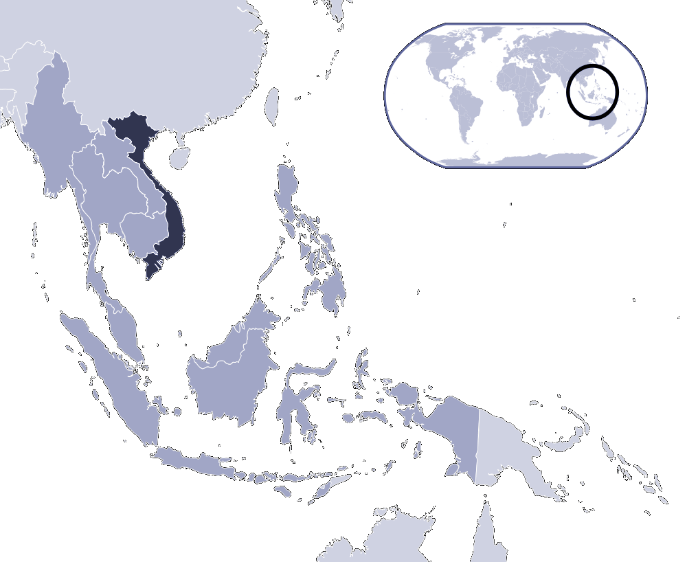 Where Is Vietnam Located large map